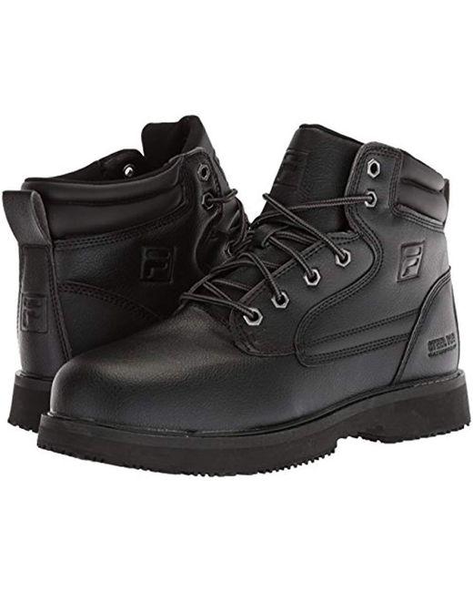 05b1d9005b Men's Black Landing Steel Slip Resistant Industrial Work Boot Food Service  Shoe