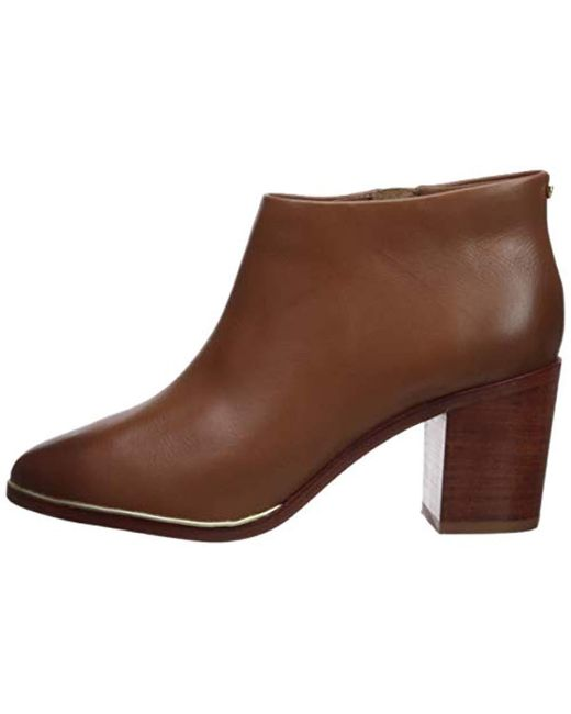 f3c85aebf54e Lyst - Ted Baker Hiharu 2 Ankle Bootie in Brown - Save 15%
