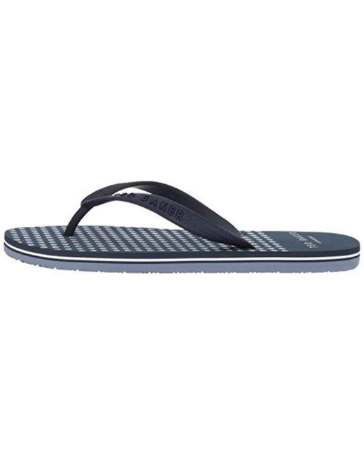 efc12a1f4 Lyst - Ted Baker Rubber Flip Flops in Blue for Men - Save 49%
