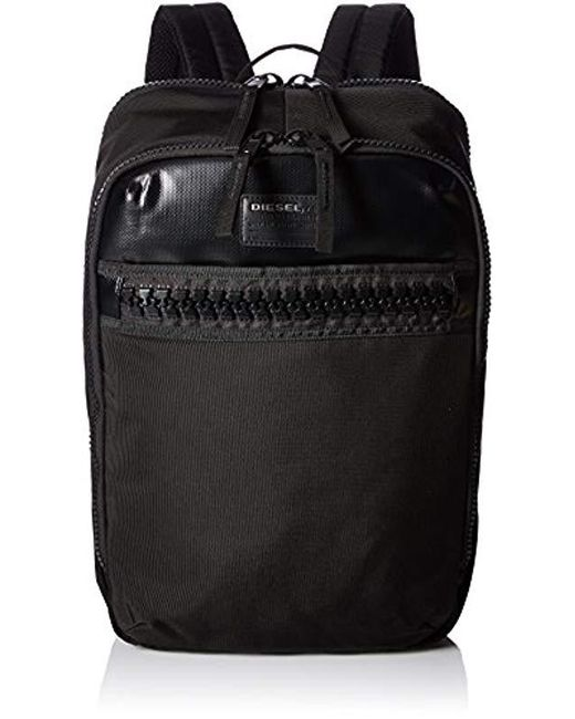 DIESEL - Black Ziiip Backpack for Men - Lyst