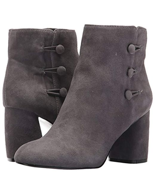 4d0ef41f4a0b Lyst - Nine West Khraine Suede Ankle Boot in Gray - Save 68%
