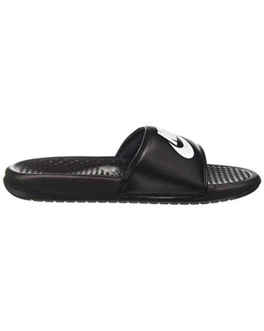 d53ddf2ad69f8 Benassi Jdi Black & White Mens Sandals