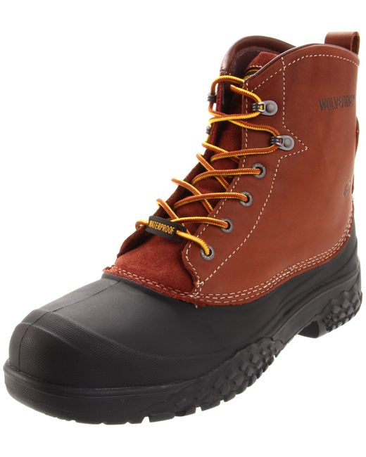 """Wolverine Rival 6"""" Work Boot,brown,10.5 Xw Us for men"""