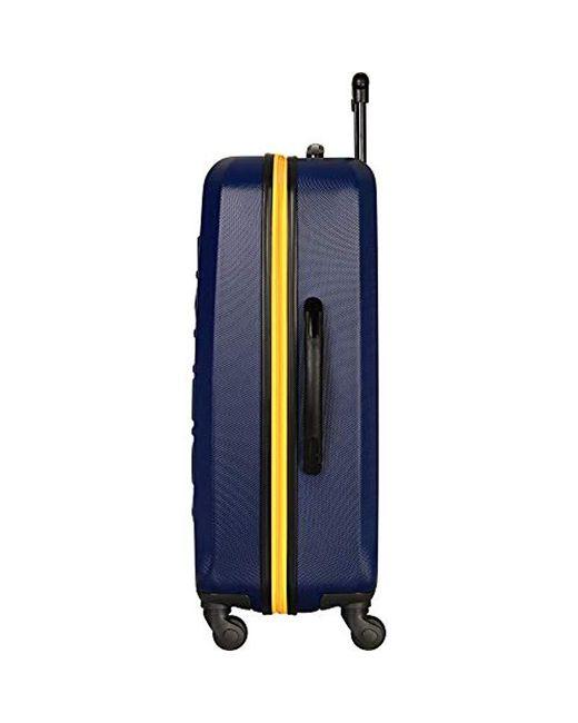 b43ba42a6ba0 Men's Blue Ahoy Hardside Expandable 4-wheeled Luggage-28 Inch Checked Size