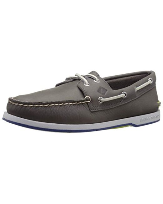 Sperry Top-Sider - Gray Top-sider Captain's A/o 2-eye Boat Shoe for Men - Lyst