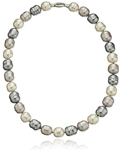 Majorica - Multicolor S 14mm Baroque Ss Necklace - Lyst