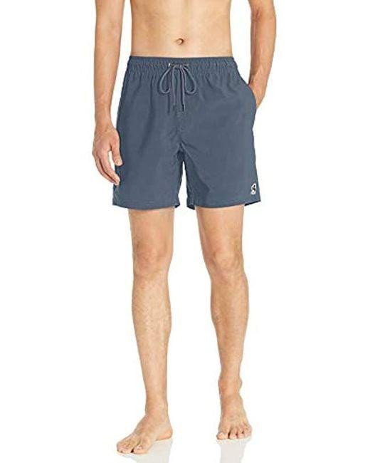 RVCA Blue Washer Elastic Short for men