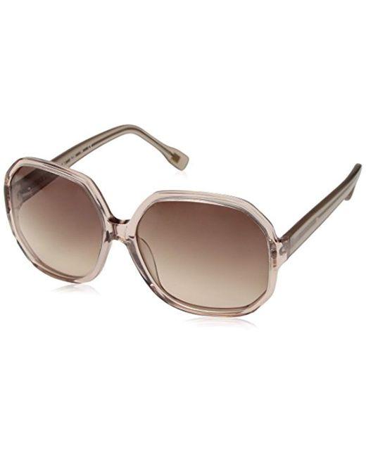 Sam Edelman - Pink Elie Tahari El226 Pk Square Sunglasses - Lyst