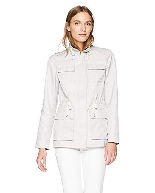 Cole Haan - White Safari Jacket With Stand Collar - Lyst