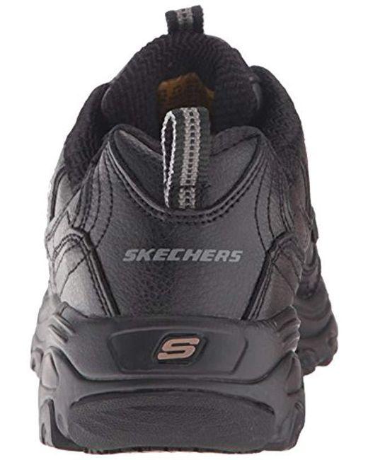 1bc234a9d1d4 ... Skechers - Black For Work D lites Slip-resistant Marbleton Shoe ...