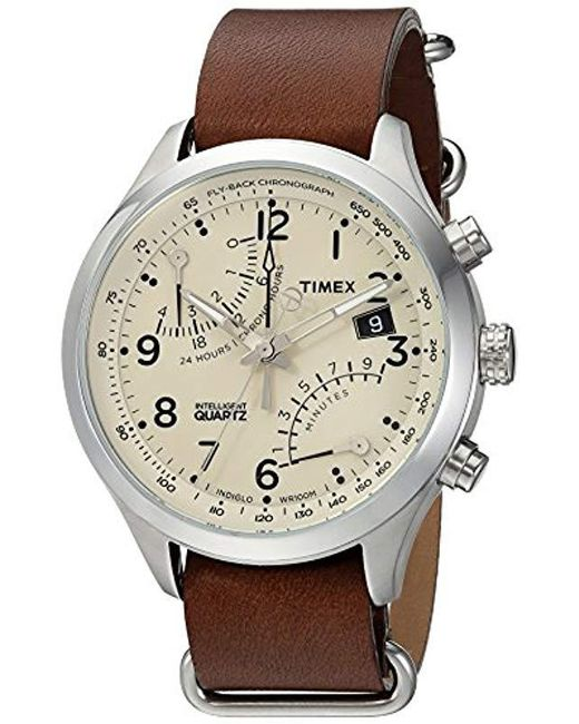 87b6de153 Timex - Brown Intelligent Quartz Fly-back Chronograph Watch for Men - Lyst  ...