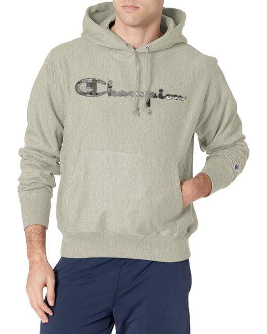 Champion Gray Reverse Weave Pullover Script Logo for men