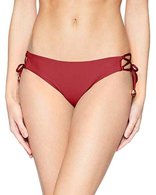 Ella Moss Red Lace Up Swimsuit Bikini Bottom