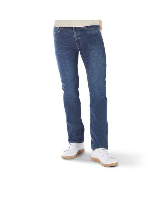 Lee Jeans Blue Premium Flex Denim Regular Fit for men