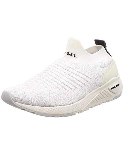 DIESEL White Skb S-kb Athl Sock Sneaker for men