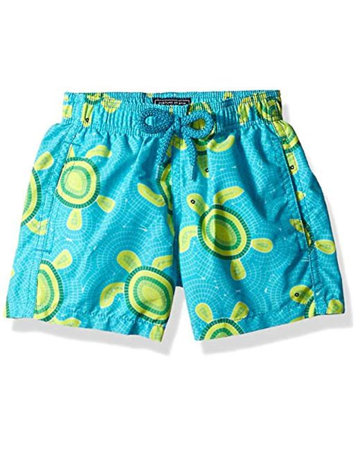 Vilebrequin Blue Jim Mosaic Turtles Swim Trunk for men