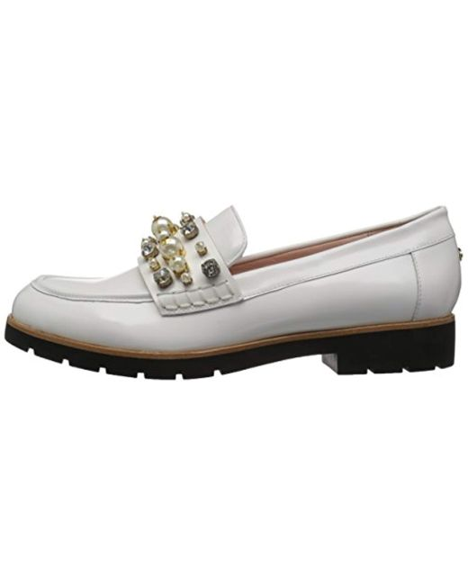 375bf47dd27 Lyst - Kate Spade Karry Too Loafer in White - Save 21%
