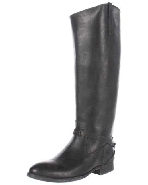 Frye Lindsay Plate Knee-high Boot,black Stone Antique Leather,7 M Us