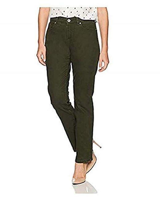 Bandolino Green Petite Mandie 5-pocket Jean In Average Length