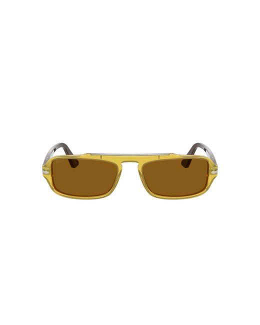 Persol Yellow Po3262s Rectangle Sunglasses