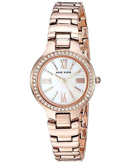 Women S Metallic Ak 3194mprg Swarovski Crystal Accented Rose Gold Tone Bracelet Watch