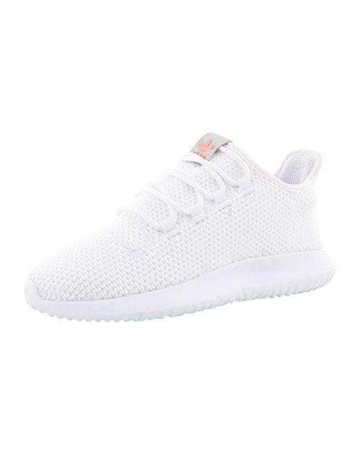 Adidas Originals White Tubular Shadow W Fashion Sneaker