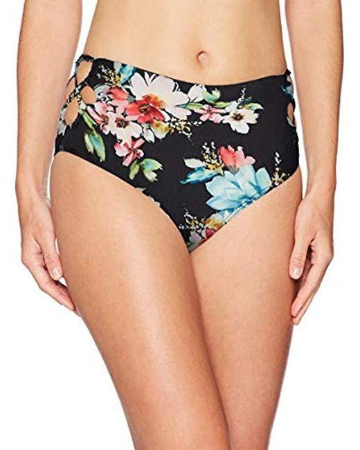 Ella Moss Black High Waist Swimsuit Bikini Bottom