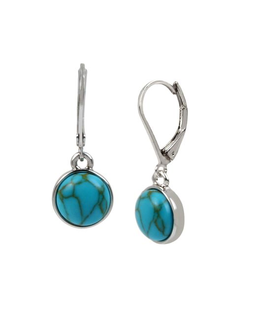 Kenneth Cole Blue Small Cabochon Drop Earrings