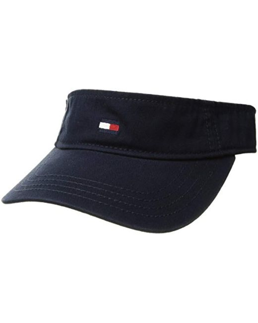 db6b39ee Tommy Hilfiger Dad Hat Flag Solid Cotton Visor in Blue for Men - Lyst