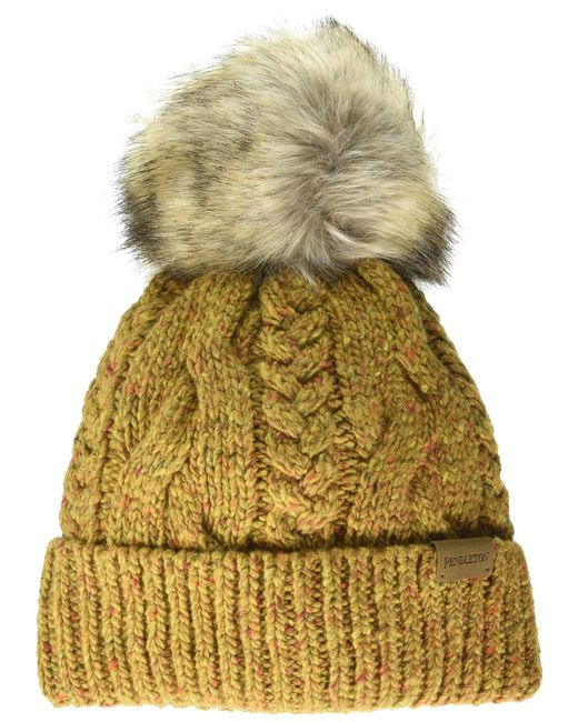 Pendleton Yellow Cable Hat