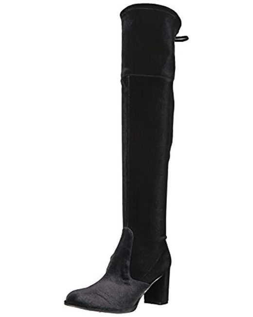 b379fcc2f50 Marc Fisher - Black Lencon Over The Over The Knee Boot - Lyst ...