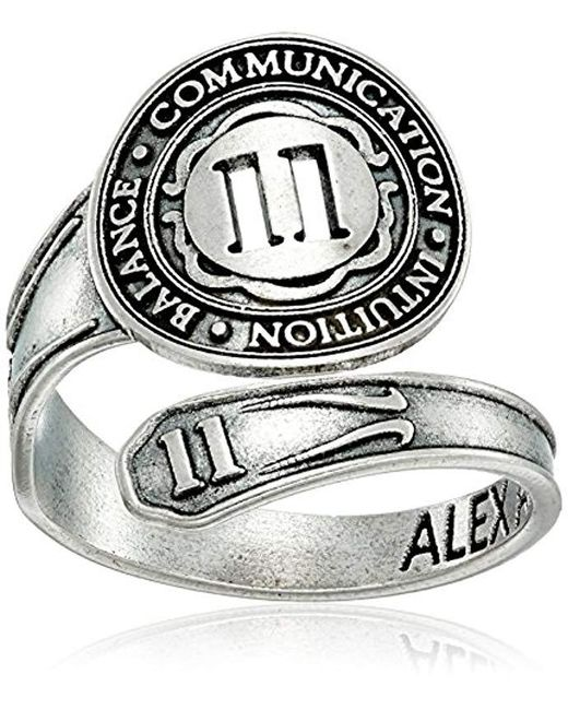 ALEX AND ANI - Metallic Numerology Number, Sterling Silver Spoon Ring, Size 7-9 - Lyst