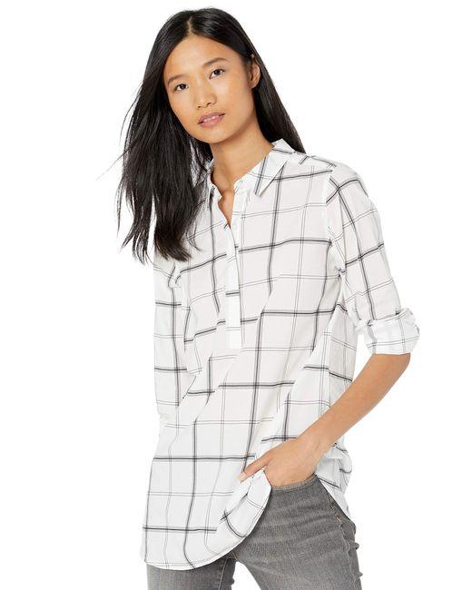 Lightweight Cotton Popover Tunic Shirts Goodthreads en coloris Multicolor