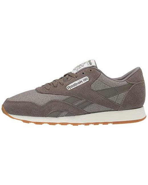 Men's Gray Classic Leather Nylon M Sneaker