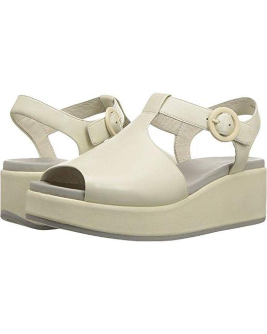 3a3dbcffa3c Lyst - Camper Misia K200568 Wedge Sandal in White - Save 20%