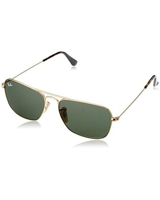 Lyst - Ray-Ban Caravan Rb3136 181 Non-polarized Sunglasses Gold ...