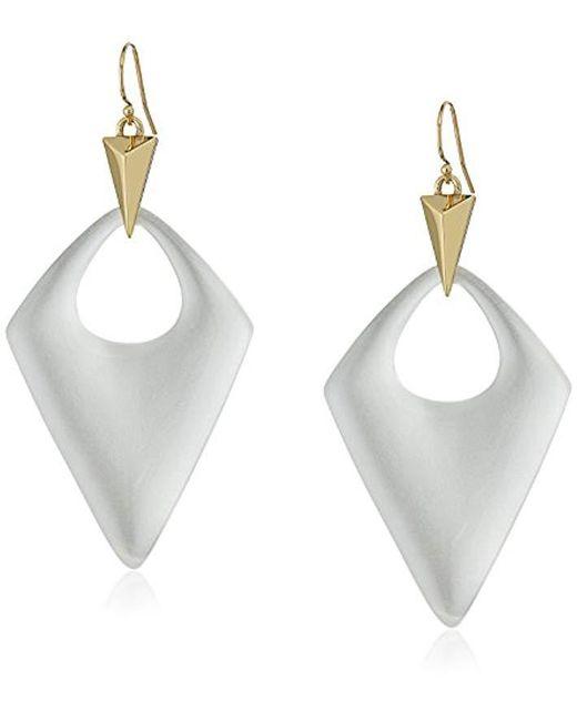 Alexis Bittar - Metallic Pointed Pyramid Drop Earrings - Lyst