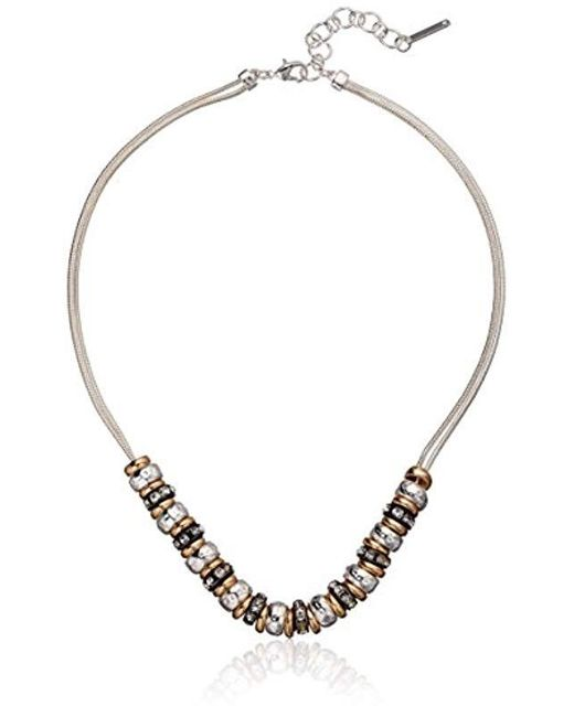 """Nine West - Multicolor Crystal 16"""" Frontal Necklace - Lyst"""