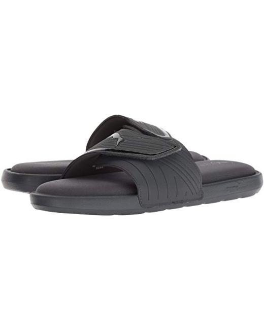 b611c95a774778 ... PUMA - Black Starcat Sfoam Slide Sandal for Men - Lyst ...