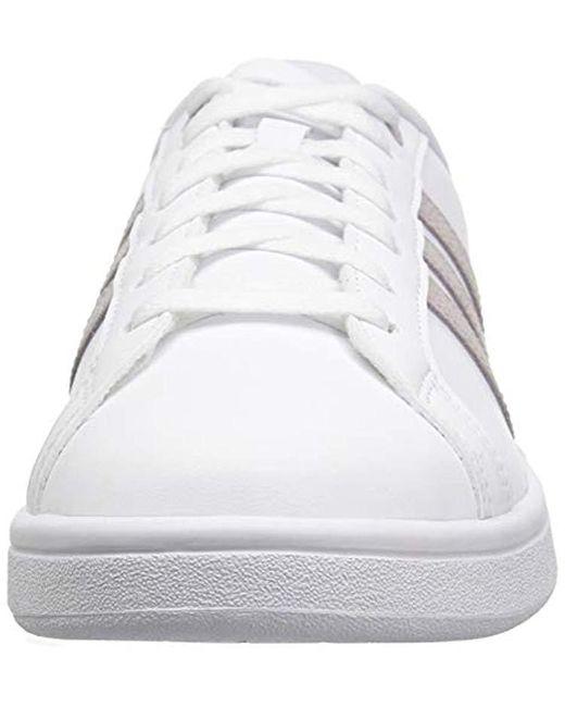 Women's Cloudfoam Advantage Shoe Sneaker, Whiteice Purplelight Granite, 9.5 M Us