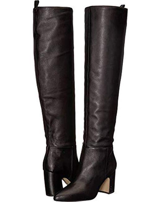 a4343f975437a6 Lyst - Sam Edelman Hutton Knee High Boot in Black - Save 55%