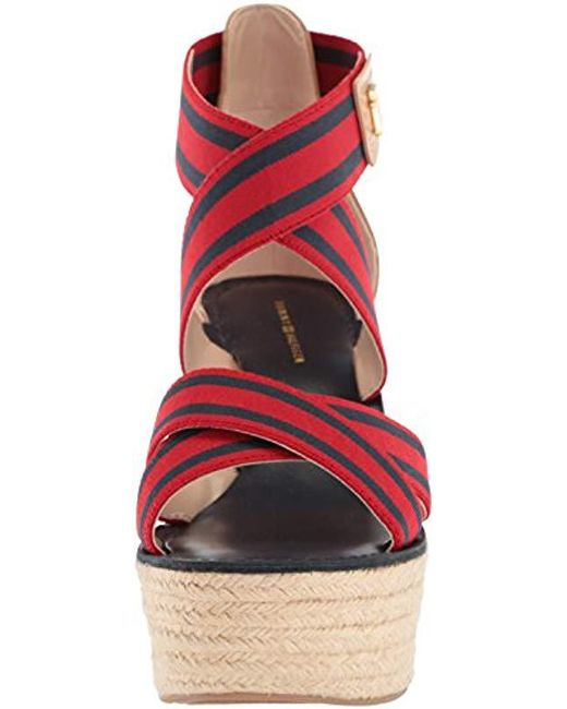 0b77969f ... Tommy Hilfiger - Multicolor Theia Espadrille Wedge Sandal - Lyst ...