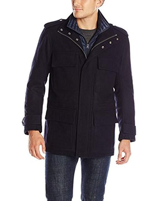 Marc New York Blue Libert Wool Four-pocket Jacket for men