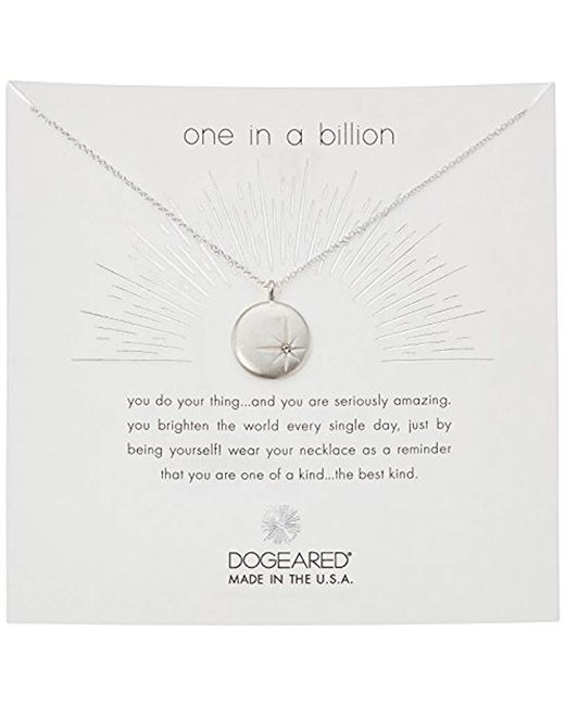 "Dogeared - Metallic One In A Billion, Sparkle Star Disc Chain Necklace, 16""+2"" Extender - Lyst"