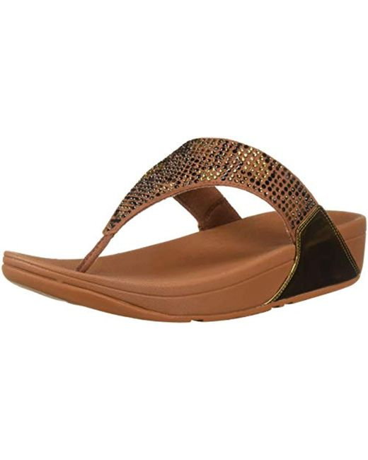 1840653d6f61 Lyst - Fitflop Lulu Leopard-crystal Sandal in Brown - Save 48%