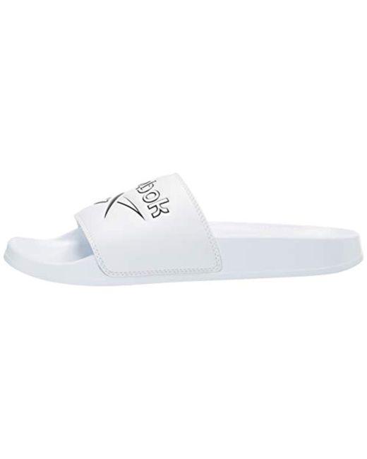 243057381 ... Reebok - White Classic Slide Slipper for Men - Lyst ...