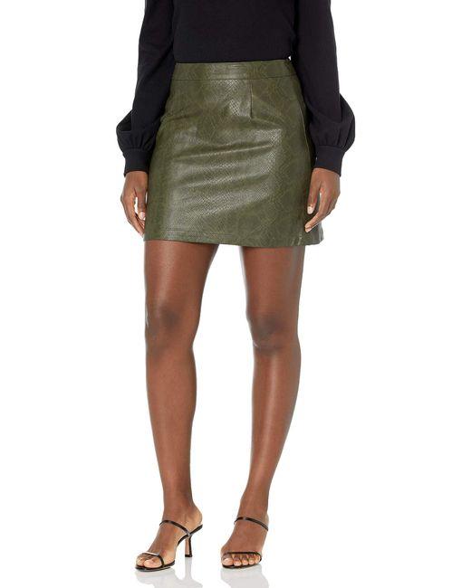 BB Dakota Green Snake A Leg Skirt