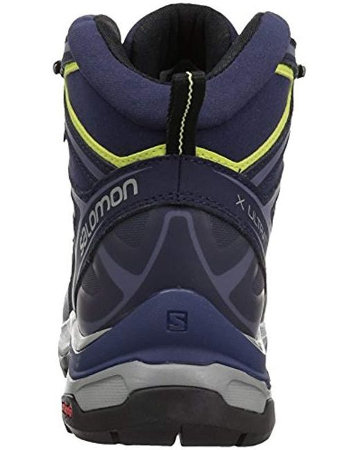 buy popular 66dc5 a18a9 Women's X Ultra 3 Wide Mid Gtx Hiking Boots, Crown Blue/evening Blue/sunny  Lime, 10 Wide