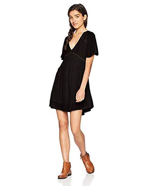 10e32b54c06 O neill Sportswear - Black Naples Flutter Sleeve Dress - Lyst ...