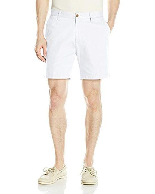 Nautica - White Flat-front Short for Men - Lyst